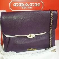 Nwt Coach 66215 Madison Leather Crossbody in Black Violet F66215 Photo