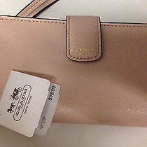 Nwt Coach 66265 Peach Rose Saffiano Iphone 5 Wallet Wristlet Photo
