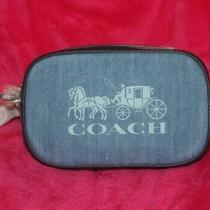 Nwt Coach 90393 Jes Convertible Belt Bag Denim / Leather Horse and Carriage Photo