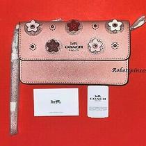 Nwt Coach 91795 Foldover Wristlet Clutch Purse Daisy Applique Light Blush Pink Photo