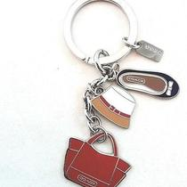 Nwt Coach Accessory Multi Mix Charm Hat Purse Ballet Shoe Key Chain Ring 65743 Photo