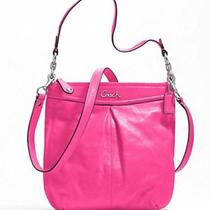 Nwt Coach Ashley Leather Hippie Cross Body Bag Silver/fuchsia 20114 Pink Photo