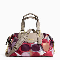 Nwt Coach Ashley Scarf Print Satchel -  F21702 - Free Shipping Photo