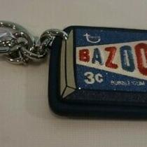 Nwt Coach Bazooka Bubble Gum Leather Handbag Charm Key Ring Chain Fob F26856  Photo