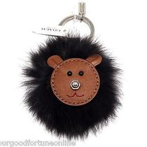 Nwt Coach Bear Face 3d Brown Leather Fur Dimensional Key Chain Ring Fob 62975 Photo