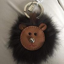 Nwt Coach Bear Face 3d Brown Leather Fur Dimensional Key Chain Ring Fob 62975 Photo