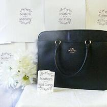 Nwt Coach Black Laptop Bag/briefcase Perfect for New Job or New Graduate Photo