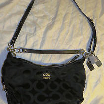 Nwt Coach Black Op Art Sateen Hailey Crossbody F18801 Photo