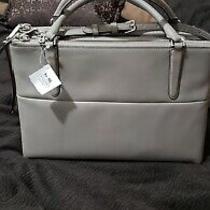 Nwt Coach Borough Bag in Retro Glove Tan Leather Ue Warm Grey F30348 Photo