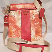 Nwt Coach Box Signature Op Art Floral Swingpack Crossbody 49215 Photo