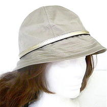 Nwt Coach Brass/khaki Cotton Spring Hat - F82379 Photo