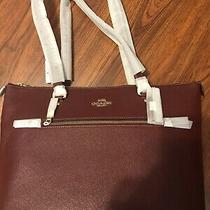 Nwt Coach Burgundy Zippered Tote Photo
