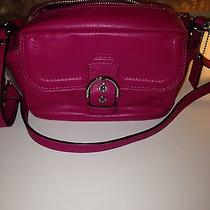 Nwt Coach Campbell Fuchsia Leather Camera Bag  Photo