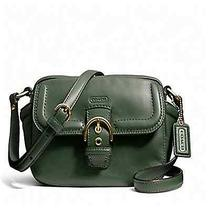 Nwt Coach Campbell Leather Camera Bag Green Msrp 258 Photo