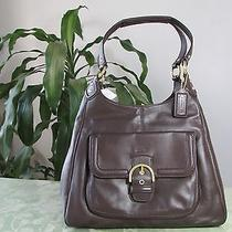 Nwt Coach Campbell Leather Hobo Shoulder Bag F24686 Mahogany Photo