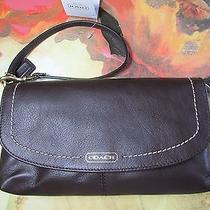 Nwt Coach Campbell Leather Large Wristlet Mahogany Photo