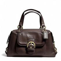 Nwt Coach Campbell Leather Satchel 24690 Brass/brown Mahogany Photo