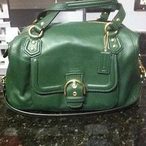 Nwt Coach Campbell Leather Satchel F25151 Green Photo