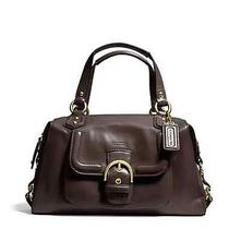 Nwt Coach Campbell Leather Satchel Handbag or Crossbody 24690 Brass/mahogany Photo
