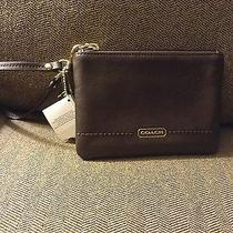 Nwt Coach Campbell Leather Small Wristlet Wallet Mahogany 68 F50078 Photo
