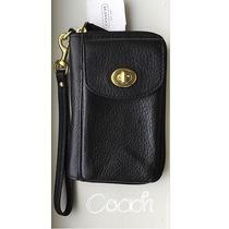 Nwt Coach Campbell Leather  Universal Zip Wallet With Iphone Pocket F50070 148 Photo