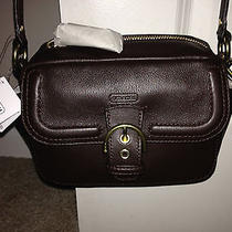 Nwt Coach Campbell Mahogany Brown Leather Camera Crossbody Bag  Photo