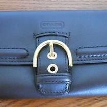 Nwt Coach Campbell Mahogany Leather Buckle Slim Envelope Wallet F49897 Photo