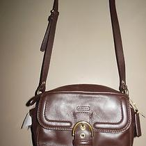 Nwt Coach Campbell Mahogany Leather Camera Crossbody Messenger Bag  Realdeal Photo