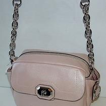 Nwt Coach Campbell Pink Leather Camera Crossbody Shoulder Bag 24843 Photo