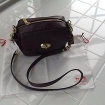 Nwt Coach Campbell Plum Leather Camera Crossbody Bag F24843 With Dustcover Photo