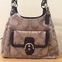 Nwt Coach Campbell Signature Hobo Khaki/mahogany F24742  Photo