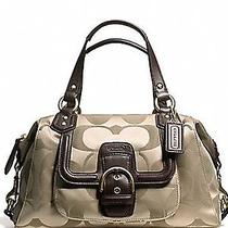Nwt Coach Campbell Signature Satchel Handbag F24741 Brass/khaki/mahogany Photo