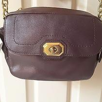 Nwt Coach Campbell Small Purple Plum Turnlock Leather Camera Cross-Body Bag Photo