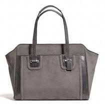 Nwt Coach Carryall Large Tote Taylor Suede Alexis Silver / Graphite- F25301 Photo