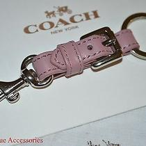 Nwt Coach Charlie Buckle Key Ring Keychain F62505 Silver/rose Pink New for Fall Photo