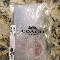 Nwt Coach Cherry Pac-Man Red Leather Bag Charm - Key Chain Photo