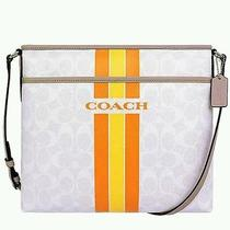 Nwt Coach Crossbody Bag  Beautiful Summer Colors.  Med Size.  Photo