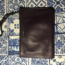 Nwt Coach Crossgrain Leather Corner Zip Wristlet Wallet Bag Photo