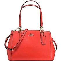 Nwt Coach Crossgrain Sm Christie Carryall Handbag in Carmine-Beautiful Purse. Photo
