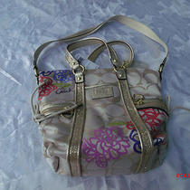 Nwt  Coach 'Daisy' Applique  Tote With Bling Large  Photo