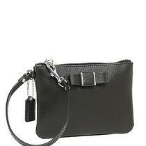 Nwt Coach Darcy Bow Wristlet Bag in Black F 51672 Photo