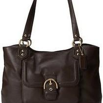 Nwt Coach Dark Brown Mahogany Leather Campbell Carryall Purse Handbag  Photo