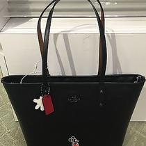 Nwt Coach Disney Mickey Mouse City Tote  Limited Edition Black Photo