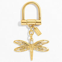 Nwt Coach Dragonfly Key Ring Fob 64136 Free Shipping Photo