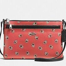 Nwt Coach East West Crossbody Bag Purse Pouch Rose Watermelon F56680 Photo