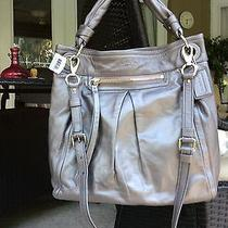 Nwt Coach F13411 Parker Leather Large Convertible Hippie Hobo Handbag Graphite Photo