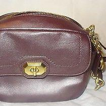 Nwt Coach F24843 Brass Plum  Campbell Leather Camera Shoulder Bag  Photo