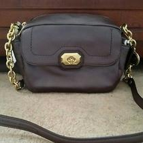Nwt Coach F24843 Turnlock Campbell Camera Bag Pearlized Plum Rare Color 298 Photo