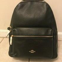 Nwt Coach F29004 Charlie Pebble Leather Campus Laptop Backpack Black Photo