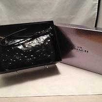 Nwt Coach F36612 Gift Boxed Black Patent Leather Cross Body Pouch Bag 225.00  Photo